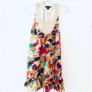 French Connection Cotton Dress w/ Beaded Halter 6